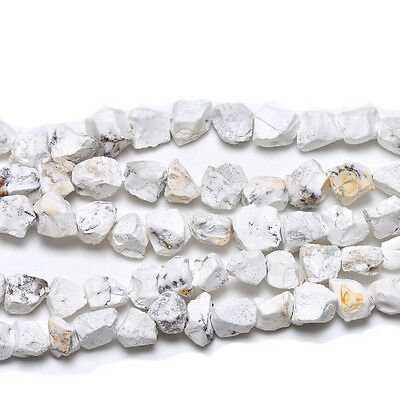 Strand Of 20+ White Onyx Approx 13 x 18mm Rough Nugget Beads GS18873