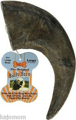 Free-range Grass Fed Water Buffalo HORN Dog Chew Long Lasting LARGE Bully
