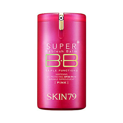 [SKIN79] Super Plus Beblesh Balm Triple Functions - 40g #Pink (New, Pump Type)