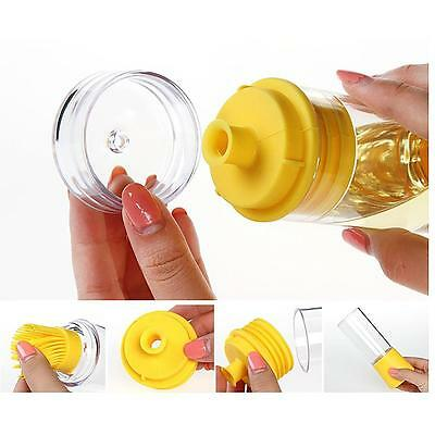 Silicone Oil Brush With Oil Bottle Grill Baking BBQ Tool Heat-Resistant Gadget