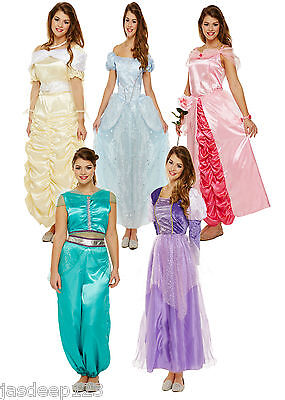 Ladies Adult Princess Costumes Fairytale Books Womens Fancy Dress One Size
