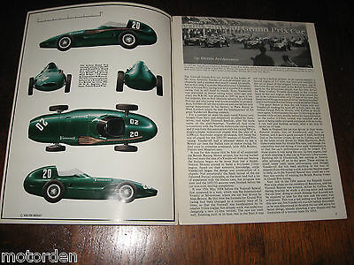 VANWALL Grand Prix Car 12 page well illustrated booklet published 1966 Profile 8