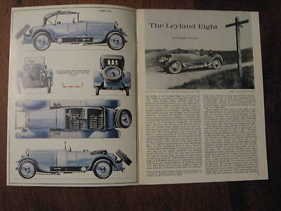 LEYLAND EIGHT, well illustrated 1966 booklet Profile 26