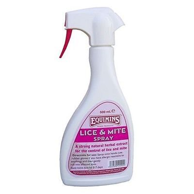 EQUIMINS LICE & MITE SPRAY 500ML herbal Quassia natural insect repellant horse