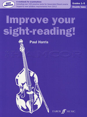 Improve your Sight-Reading for Double Bass Grades 1-5 Sheet Music Book