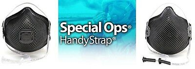 BLACK MOLDEX N95 Respirators with Handy Strap - Special Ops Masks