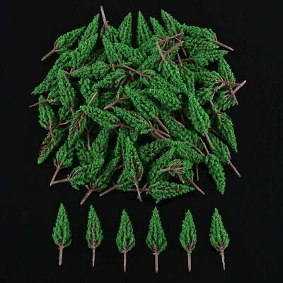 100pcs Pine Trees for N or Z scale 1:100 -1:200 scene 58mm
