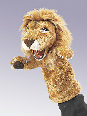 *NEW* PLUSH SOFT TOY Folkmanis 2562 African Lion Stage Hand Puppet 36cm