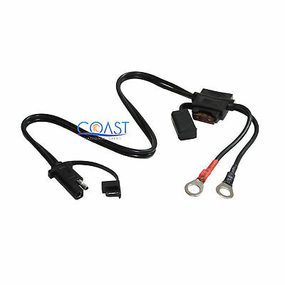 Quick Connect Battery Tender Wire Harness Snap Cord Ring Charger Terminal