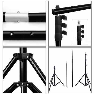 2.8m x 3m Photo Studio Background Backdrop Camera Photography Support Stand Kit