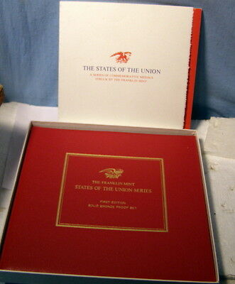 * FRANKLIN MINT - 1st Edition PROOF w ORIG BOX - 50 STATES of the UNION SET **