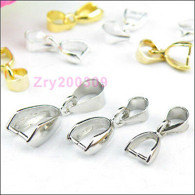 Necklace Connector Clip Bail 5x14mm,6x17mm,7x20mm Silver/Gold/Dull Silver R0167