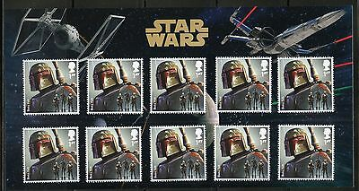Great Britain Star Wars Boba Fett  Presentation Pack Of Ten Stamps As Issued