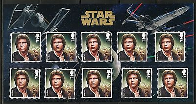 Great Britain Star Wars Hans Solo  Presentation Pack Of Ten Stamps As Issued