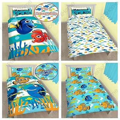 Finding Nemo Duvet Cover Sets In Single 2 In 1 Reversible Kids New 100% Official