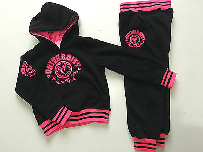 BNWT Boys Girls Black/Pink/Grey University Joggging /Tracksuit Ages 4 - 12