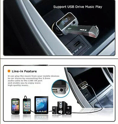3.5MM USB Car charger Stereo Music FM transmitter for Samsung S6 edge plus S5 S3