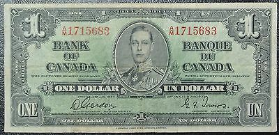 BANK OF CANADA - 1937 $1 BANK NOTE - Prefix A/M - Gordon & Towers