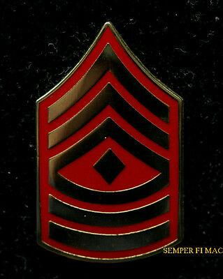 Us Marine First Sergeant Stripes 1St Sgt E-8 Lapel Hat Pin Up Usmc Marines Wow
