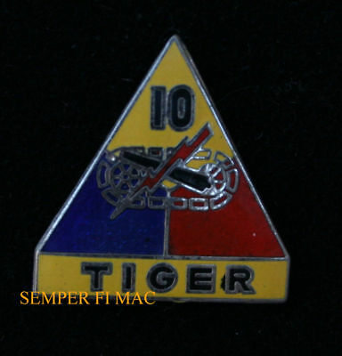 Us Army 10Th Armored Division Tiger Hat Pin