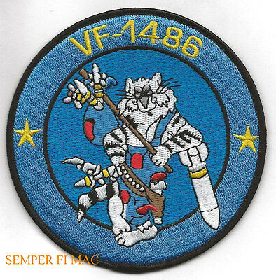 Vf-1486 Fighting Hobos F-14 Tomcat Us Navy Patch Uss Naf Nas Pilot Crew