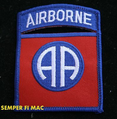 82ND AIRBORNE INFANTRY DIVISION HAT PATCH FORT BRAGG Parachute Assault USA WOW