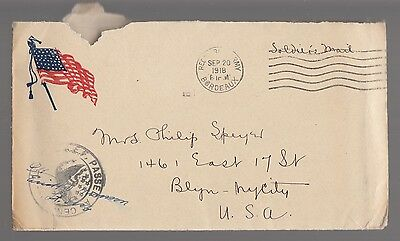 [57403] 1918 U.s. Postal Cover & Letter National War Work Council Army & Navy