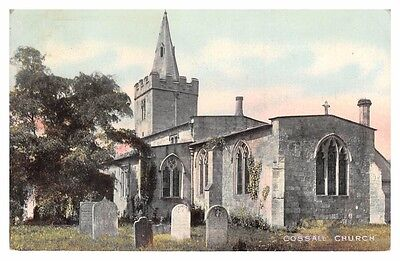 Cossall Church, Nottinghamshire - old postcard