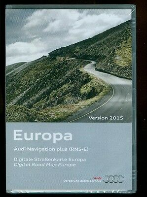 AUDI NAVIGATION PLUS RNS-E VERSION 2015 WEST- und OSTEUROPA 3 x DVD  OVP