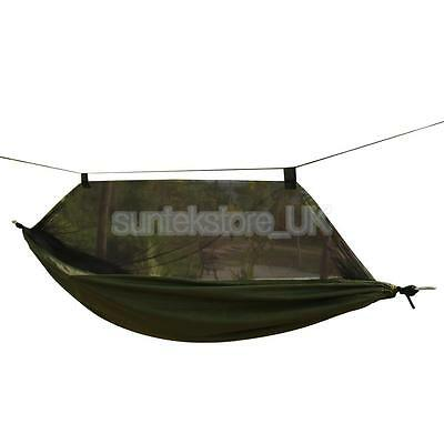 Portable Travel Camping Outdoor Hammock Parachute Hanging Bed & Mosquito Net