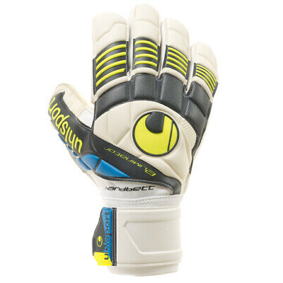 Uhlsport Eliminator Handbett Soft Torwarthandschuhe Goalkeeper Gloves weiß