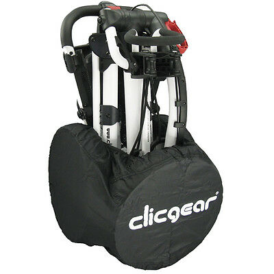 28% OFF RRP Clicgear Golf Trolley Wheel Travel Cover - Black