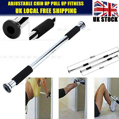 Size Adjustable Door Home Gym Bar Exercise Workout Chin Up Pull Up Sit Fitness