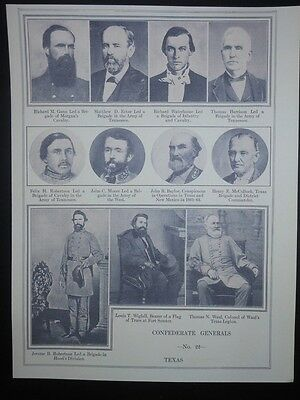Eleven Texas Confederate Civil War Officers Reprint Photo