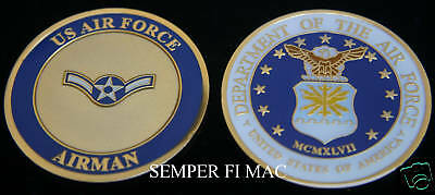 Airman Us Air Force Challenge Coin E-2 Usaf Pin Up Afb Basic Graduation Gift Wow