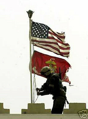 High Quatily Us & Marine Corps Battle Colors Flag Set 3 X 5 Usmc Fmf Veteran Wow