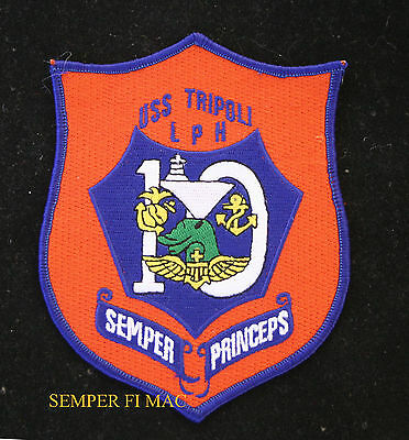Uss Tripoli Lph-10 Patch Us Navy Marines To The Shores Of Pin Up Carrier Gift