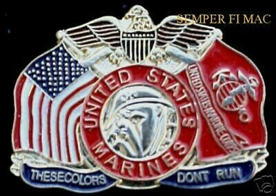 These Colors Don't Run Usa Usmc Flag Us Marines Hat Pin