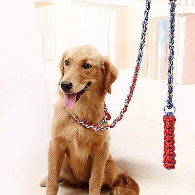Hot Pet Dog Strong Traction Rope Long Anti-bite Dog Chain Harness Leash Collars
