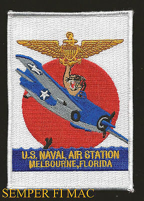 Nas Melbourne Patch Us Naval Air Station Florida Uss Us Navy Vet Pin Up Tiger