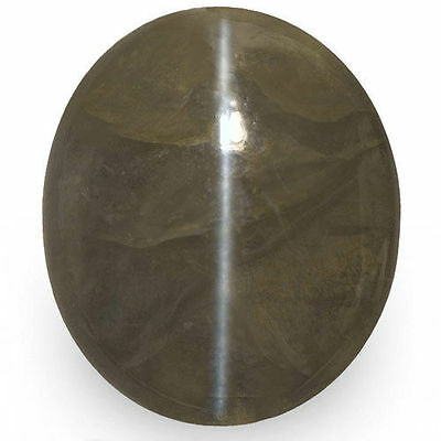 25.38-Carat Large IGI-Certified Chrysoberyl Cat's Eye from Orissa, India