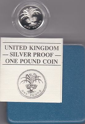 1985 Boxed Standard Proof Welsh Leek One Pound