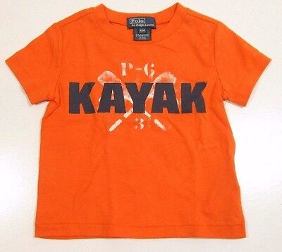 Polo Ralph Lauren Boys Orange Graphic Crew Neck T-Shirt