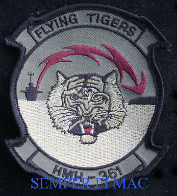 Hmh-361 Flying Tigers Patch Us Marines Mcas Squadron Mag Maw Pin Up Helicopter