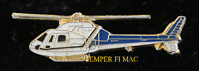 Aerospatiale As-355 Helicopter Hat Lapel Pin Tie Tac Pilot Air Crew Helo Wow