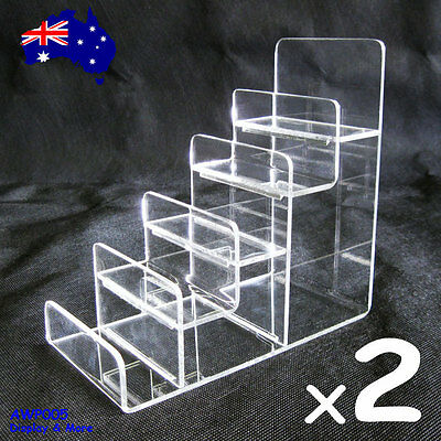 Reliable 2X Clear Acrylic Wallet Holder Stand Rack-5 Levels | AUSSIE Seller