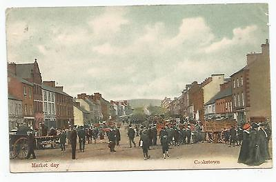 northern ireland postcard ulster irish tyrone market day cookstown postmark RSO