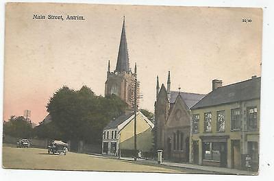 northern ireland postcard ulster irish antrim main street