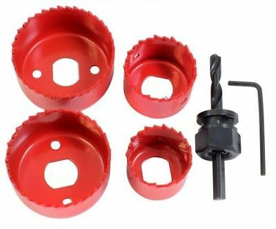 6Pc Holesaw Kit Down Lights Hole Cutter Saw Set Drive Arbor And Allen Key