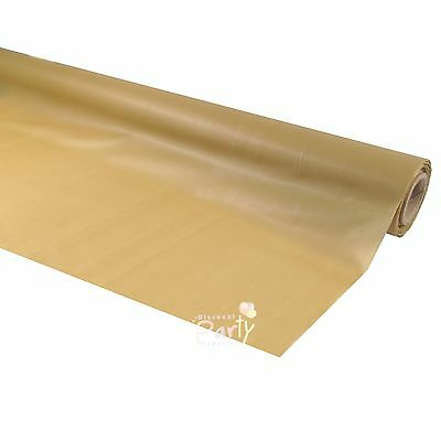 Gold Plastic 30M Banquet Party Table Roll Tablecover Tablecloth Tableroll